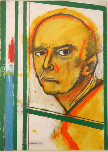 Self Portrait with Easel 1996